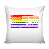 Pride LGBT U.S Rainbow Flag Pillow Cover