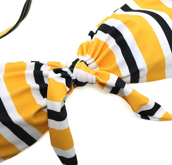 Finny Bikini Set - Stripe Yellow
