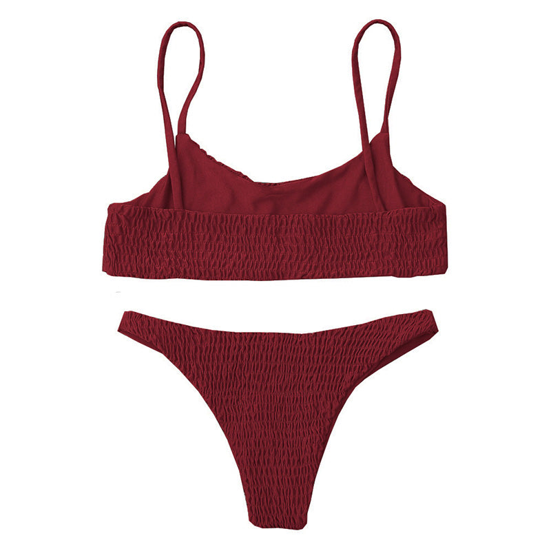 Celina Bikini Set - Dark Red