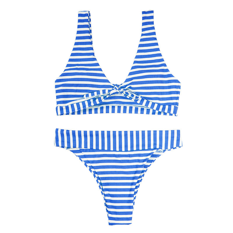 Jane Bikini Stripe Set - Blue