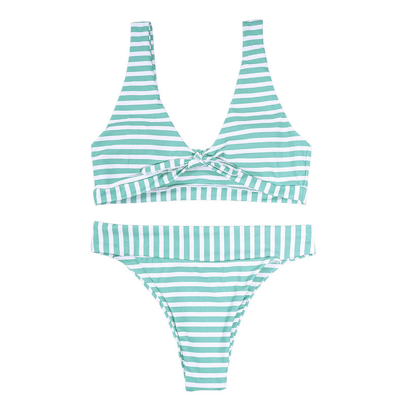Jane Bikini Stripe Set - Green