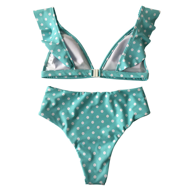 Claire Bikini High Waisted Set - Green