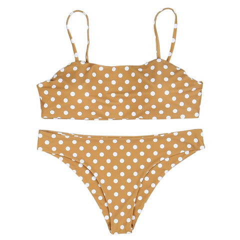 Lisa Polka Dot Bikini Set - Honey