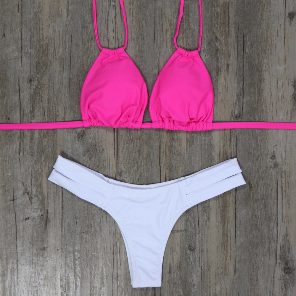 Morgan Bikini Set - Raspberry White
