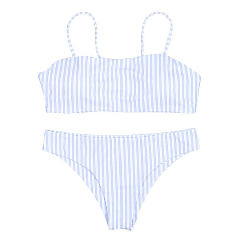 Lisa Polka Dot Bikini Set - Blue