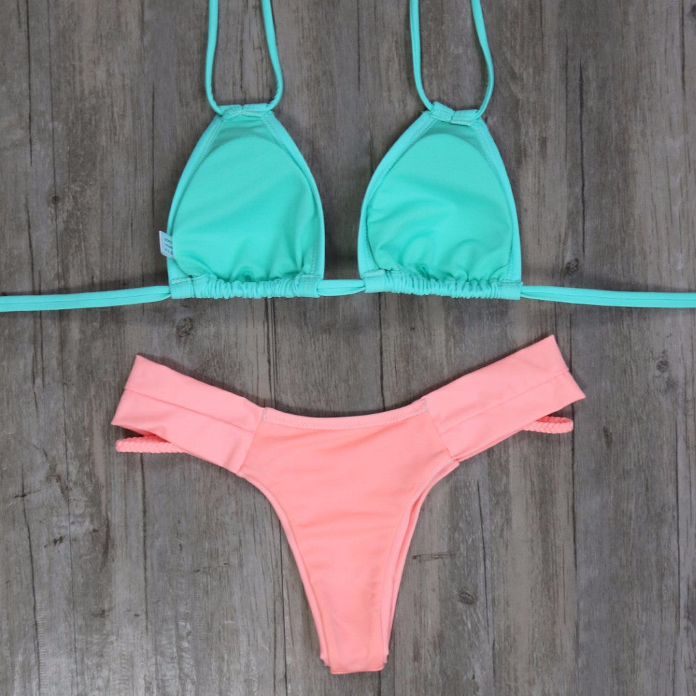 Morgan Bikini Set - Mint Peach