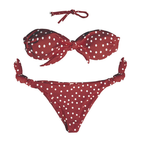 Lisa Polka Dot Bikini Set - White