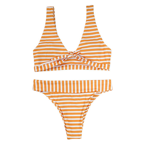 Jane Bikini Stripe Set - Yellow