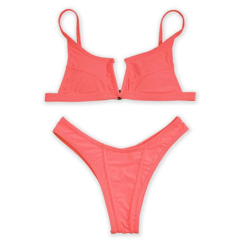 Kate Tank Bikini Set - Red