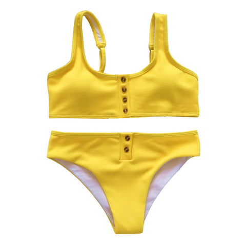 Aspyn Ribbed Bikini Set - Yellow