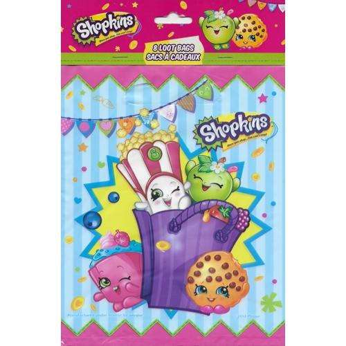 Shopkins Party Favor Treat/Loot Bags (8 Pack)