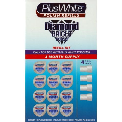 Plus White Polish Refills Diamond Bright Polish Refill Kit