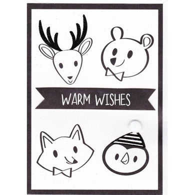 Warm Wishes Christmas Greeting Card with Envelope (5