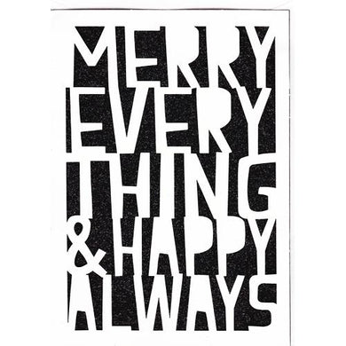 Merry Everything & Happy Always Christmas Greeting Card with Envelope (5