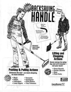 CareBorne Backsaving Handle (Eliminates Backbreaking Work!) at DollarFanatic.com America's Exclusively Online Dollar Stores.