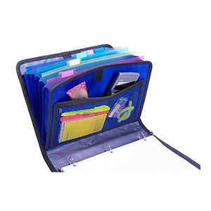 "The Open Tab 3-Ring Notebook Binder with Zipper Pockets/Expanding File (1"" Capacity) Select Color"