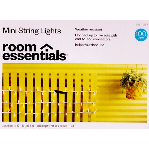 Mini String Lights 100 Clear Mini String Light Set Weather Resistant (20.7 ft.) 20% to 80% Off at DollarFanatic.com America's Online Dollar Store