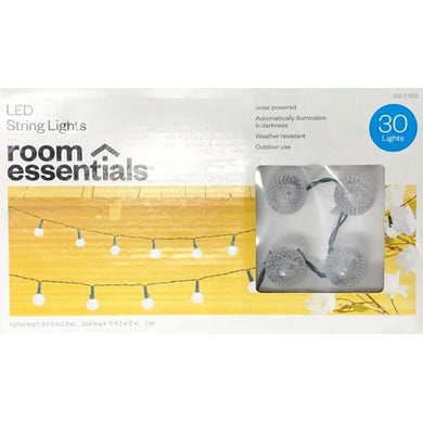 Solar Power LED String Lights Set 30 Round Faceted Lights Weather Resistant (9.8 ft.) 20% to 80% Off at DollarFanatic.com America's Online Dollar Store