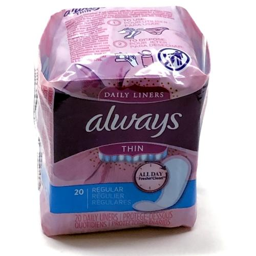 Always Thin Regular Daily Liners - All Day Fresh 'n Clean (20 Pack )