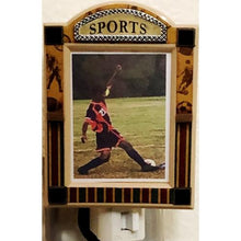 "Load image into Gallery viewer, Sports Picture Frame Night Light Gift Boxed (Fits 2"" x 3"" Picture) with Free Local Delivery in Champaign & Vermilion County IL."