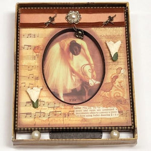 "Ballet Timeless Elegance Photo Frame - Gift Boxed (3"" x 4"" Oval Photo) with Free Local Delivery in Champaign & Vermilion County IL."