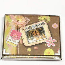 "Load image into Gallery viewer, My Sister, My Friend 4"" x 6"" Mini Photo Album Gift Boxed (Holds 24 Pictures) with Free Local Delivery in Champaign & Vermilion County IL."