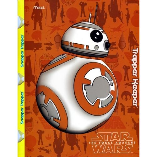 Mead Star Wars The Force Awakens 2-Pocket Snapper Trapper Keeper Folder (Styles vary) only $1.00 at DollarFanatic.com America's First & Only Exclusively Online One Dollar Store.