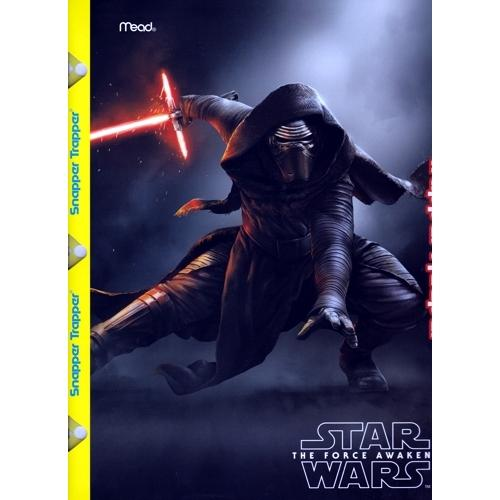 Mead Star Wars The Force Awakens 2-Pocket Snapper Trapper Keeper Folder (Styles vary) only $1.00 at DollarFanatic.com America's First & Only Exclusively Online $1 Store.