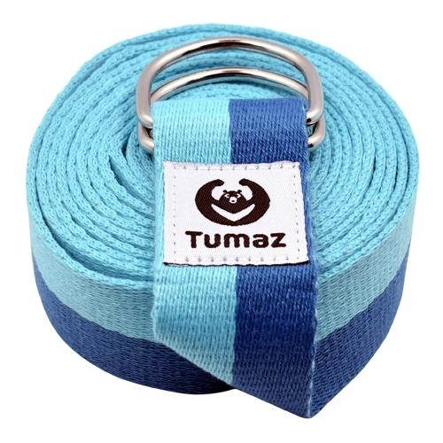 Tumaz Yoga Stretch Strap - Non-Elastic Band (8 ft.)