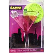 "Load image into Gallery viewer, Scotch Magic Tape with Cosmo Martini Tape Dispenser - Matte Finish (3/4"" x 350"" Tape Roll)"