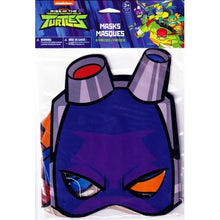 Load image into Gallery viewer, Rise of the Teenage Mutant Ninja Turtles Party Masks (8 Pack)