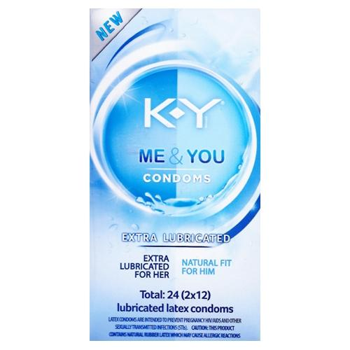 K-Y Me & You Extra Lubricated Latex Condoms (24 Pack)