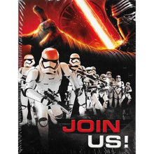 Load image into Gallery viewer, DesignWare Star Wars Join Us Party Invitations with Envelopes/Thank You Postcards (25 Pack)