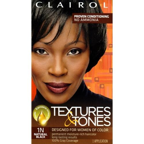 Clairol Textures & Tones Permanent Hair Color Kit (Select Color) 100% Gray Coverage