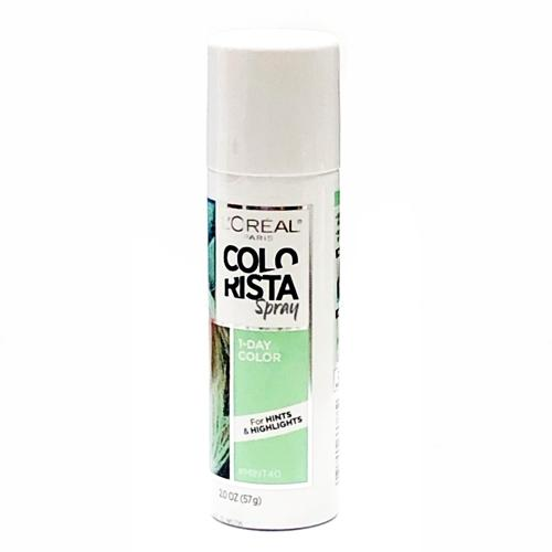 Colorista Hair Spray 1-Day Hair Color (Mint40) For Hints & Highlights