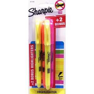 Sharpie Narrow Chisel Tip Assorted Color Highlighter Markers (4 Pack)