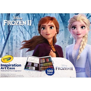 Disney Frozen Crayola Inspiration Art Case (100 Pieces) Includes Storage Briefcase
