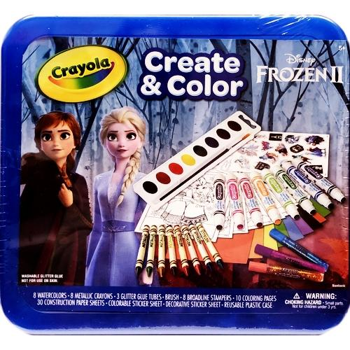 Disney Frozen Crayola Create & Color Art Kit (70 Pieces) Includes Storage Case