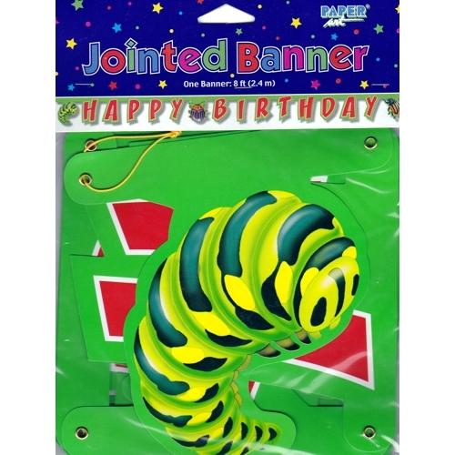 Bugs Everywhere Large Jointed Happy Birthday Party Banner (8 ft) only $1.00 at DollarFanatic.com America's First & Only Exclusively Online $1 Store.