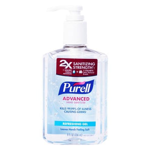 Purell Advanced Hand Sanitizer (8 fl. oz.) Kills 99.99% of Illness Causing Germs