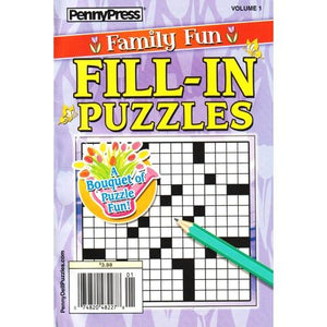 Family Fun Fill-In Puzzles Volume 1 (Paperback Book)