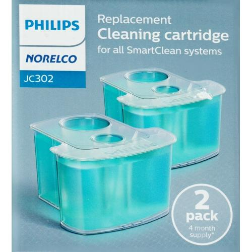 Norelco SmartClean Replacement Cleaning Cartridges JC302 (2 Pack) 4-Month Supply