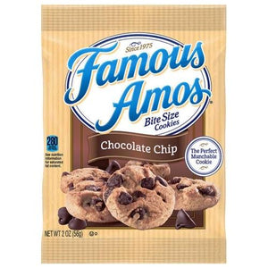 Famous Amos Chocolate Chip Bite-Size Cookies (Net Wt. 2 oz.)