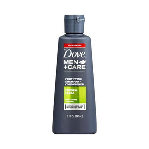 Dove Men +Care Fortifying Shampoo + Conditioner - Fresh & Clean (Net wt. 3 fl. oz.) Travel Size