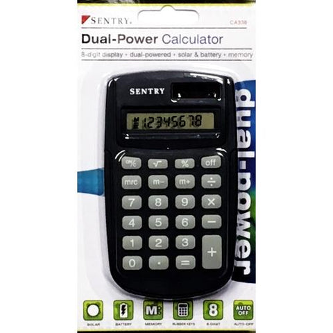 Sentry Dual-Powered Calculator only $1.00 at DollarFanatic.com America's First & Only Exclusively Online $1 Store.