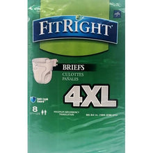 Load image into Gallery viewer, FitRight BariBrief Bariatric Incontinence Briefs - 4XL (8 Pack )