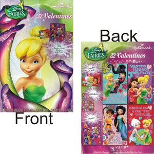 Disney Fairies Valentines Cards w/Stickers Kit (32 Pack) Includes Teacher Card and Poster