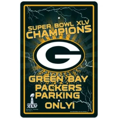 Green Bay Packers Parking Only Sign (Super Bowl XLV Champions) at DollarFanatic.com America's Exclusively Online Dollar Stores.
