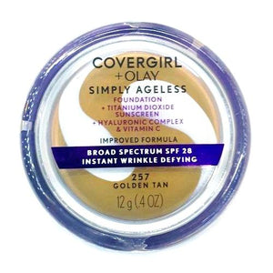 CoverGirl + Olay Simply Ageless Instant Wrinkle Defying Foundation + Sunscreen (0.4 oz.) Select Shade