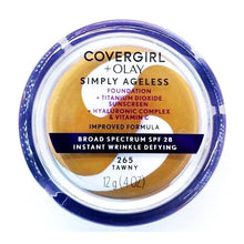 Load image into Gallery viewer, CoverGirl + Olay Simply Ageless Instant Wrinkle Defying Foundation + Sunscreen (0.4 oz.) Select Shade
